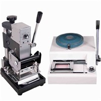 Professional 68characters PVC Plastic Card Embosser Machine& Manual Hot Foil Stamping Machine PVC