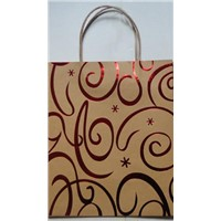 kraft paper bag with silver  hotstamp