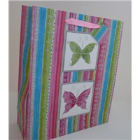 large butterfly giftbag with glitter