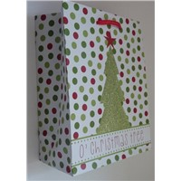 medium printed paper bag with glitter