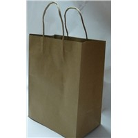 recycled brown paper bag with twist handle