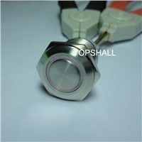 Stainless steel metal push button switch with cable and light(lamp)