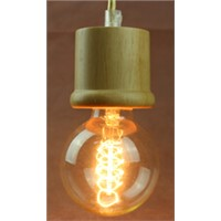 High quality wood pendant light  with edison bulb from Zhongshan lighting