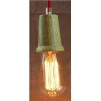 New products wood pendant light with edison bulb from Zhongshan lighting