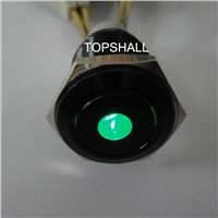 Alloy(alumnium) making metal push button switch,total black plated metal push button switch