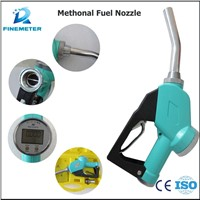 Portable liquid dispensing fuel nozzle anti-corrosion measuring nozzle