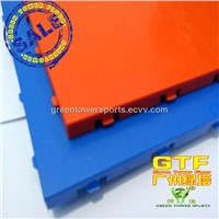 Blue cross Suspended Flooring/Plastic Floor Assembly/Green Net Outdoor Sport Suspension Flooring