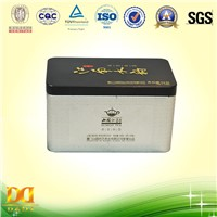 Rectangular Metal Tea Tin Box