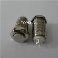 12mm maintain metal push button switch with high button