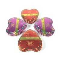 Metal Heart Tin Boxes with diamonds