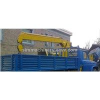 Used condition  year 2009 Jiefang 5t truck mounted crane second hand Jiefang 5t truck mounted crane