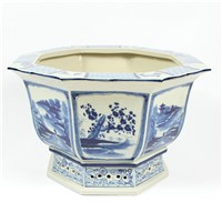RZAJ07 15inch Blue and White Flower Pot