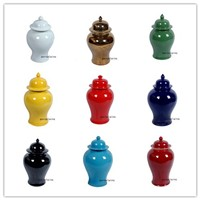 Wholesale solid color ceramic ginger jars