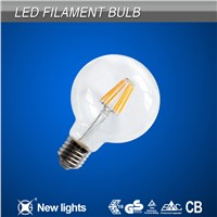 High quality LED lights E27 G80 6W lamps filament LED