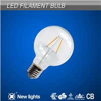 110V 220V A60 8W Daylight Filament Led Lamp Bulb with Milky Cover