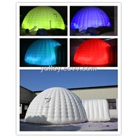 LED Lighting inflatable igloo dome Tent