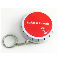 cool click clack tin box with keychain