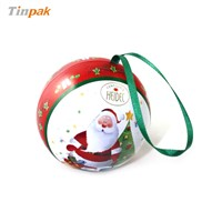 gift ball shaped tin box