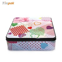 rectangle biscuit tin box