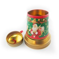 Christmas bell shape tin box