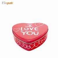 fashion heart shape tin box for valentine