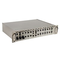 16 Slot Optical Fiber Media Converters