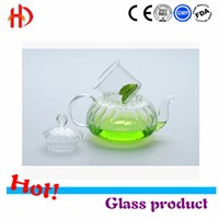 Good price heat-resistant borosilicate glass best teapot with warmer