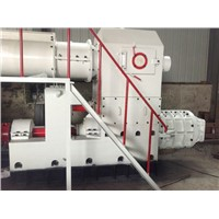 High capacity compressed earth brick machine