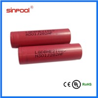 Large stock! 2500mah LG HE2 18650 battery rechargeable li-ion battery