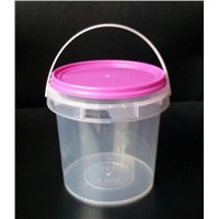 1Kg Clear Pail, Plastic Packaging Bucket for Popcorn,Food Grade
