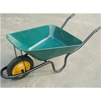 construction use galvanized tray and PU wheel wheelbarrow