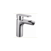 Modern design single lever hot cold waterfall faucet