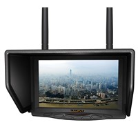 "7"" FPV monitor with dual 5.8Ghz 32 channels wireless receiver for Aerial & Outdoor Photography."