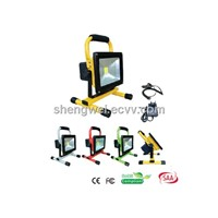 10W/20W/30W/50W Rechargeable Emergency Portable LED Flood Light