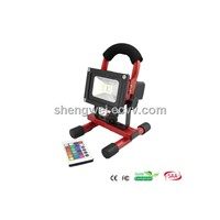 Rechargeable 10W RGB LED Floodlight with IR Control (SW-PLF2023-RGB)