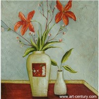 decorative flower oil painting on canvas