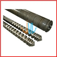 Parallel twin screw barrel for extrusion machine