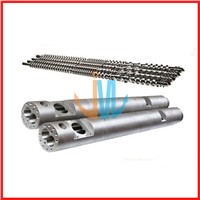 Parallel twin screw barrel