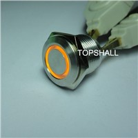 16mm lighted led metal door bell pushbutton