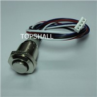 16mm waterproof  metal push button led with wire connected