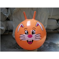 Wholesale PVC plastic jumping inflatable bounce ball with handle riding toy factory OEM
