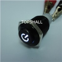 16mm black metel led push button switch