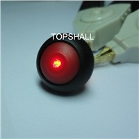 Total plastic illuminated IP68 waterproof push button switch with 2pin(terminals) cable
