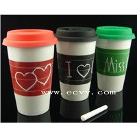 12oz Ceramic Porcelain Coffee Chalk Cup
