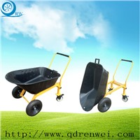 Metal Wheelbarrow with Four Wheels