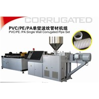 PE single wall corrugated pipe production machinery