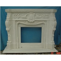 hot sell decorative white marble stone fireplaces