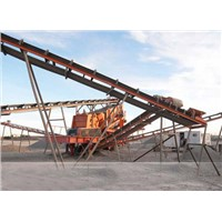 Belt conveyor for mining, quarry, building material