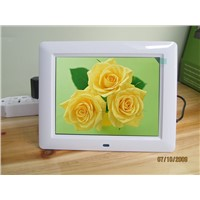 8 inch digital photo frame auto play video music slideshow