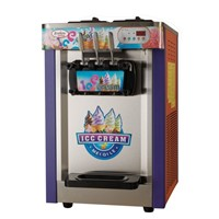 stainless steel 3 flavors soft serve ice cream machine(Carzy sales)
